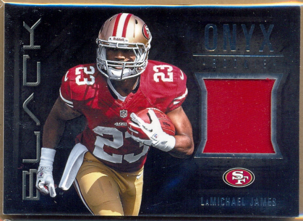 2012 Panini Black Onyx Rookie Materials Prime #19 LaMichael James