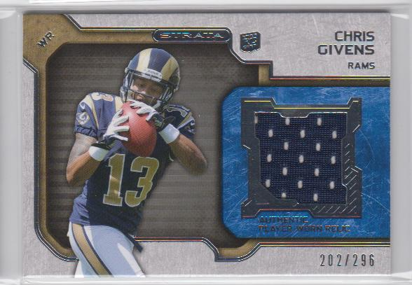 2012 Topps Strata Rookie Jerseys #RRCG Chris Givens