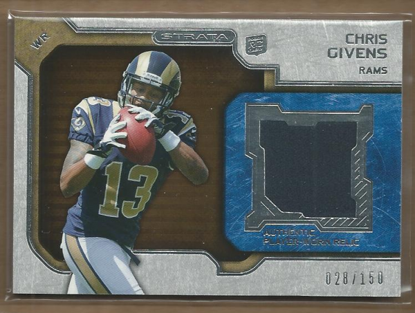 2012 Topps Strata Rookie Jerseys Bronze #RRCG Chris Givens