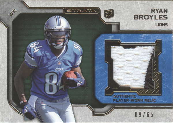 2012 Topps Strata Rookie Jerseys Green Patch #RRRB Ryan Broyles