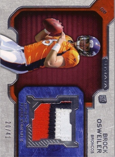 2012 Topps Strata Rookie Jerseys Red Patch #RRBO Brock Osweiler