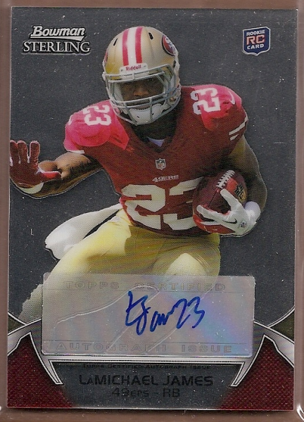 2012 Bowman Sterling #AU76 LaMichael James AU