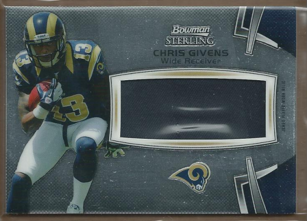 2012 Bowman Sterling #BSJRRCG Chris Givens JSY