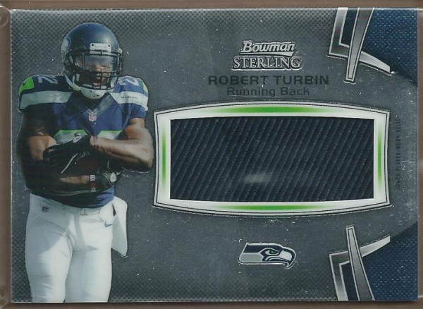 2012 Bowman Sterling #BSJRRRTU Robert Turbin JSY