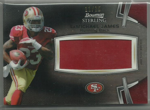 2012 Bowman Sterling Black Refractors #BSJRRLJ LaMichael James JSY/75