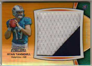 2012 Bowman Sterling Relics Jumbo Gold Refractors #BSJRPRT Ryan Tannehill