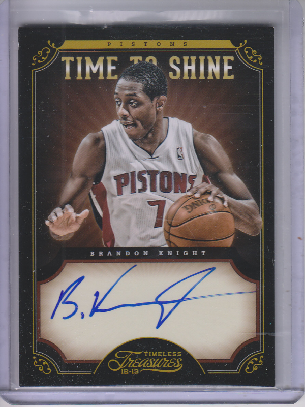 2012-13 Timeless Treasures Time to Shine Autographs #2 Brandon Knight/199