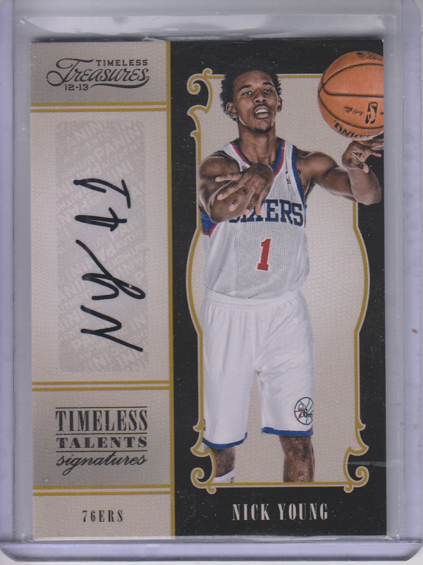 2012-13 Timeless Treasures Timeless Talents Signatures #13 Nick Young/199