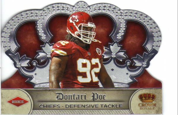 2012 Crown Royale #182 Dontari Poe RC