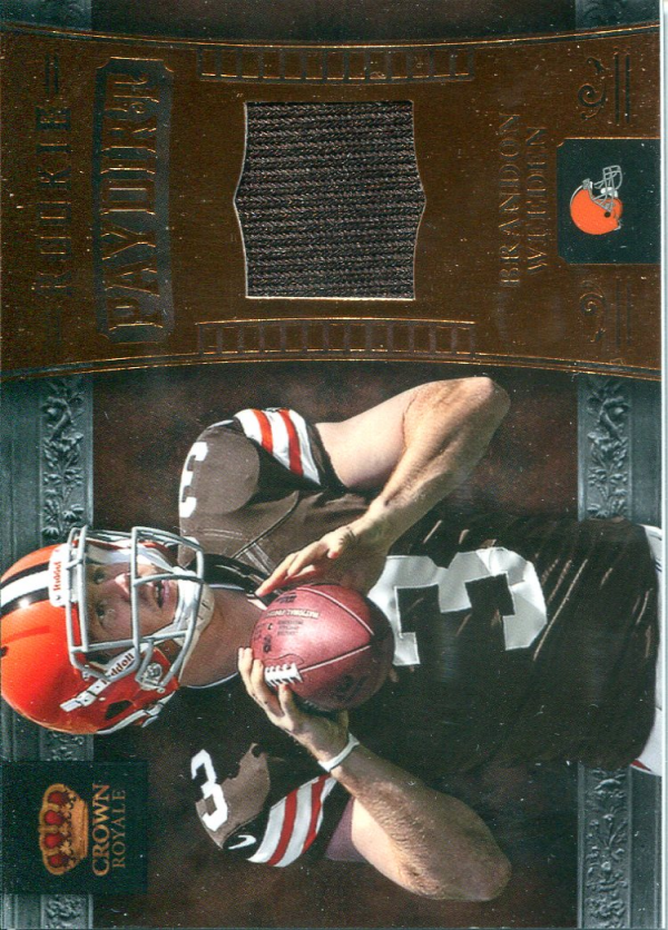 2012 Crown Royale Rookie Paydirt Materials Bronze Retail #5 Brandon Weeden
