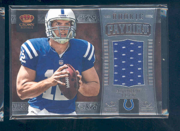 2012 Crown Royale Rookie Paydirt Materials #3 Andrew Luck