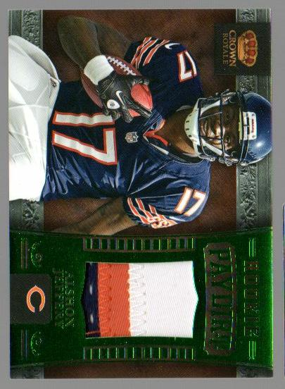 2012 Crown Royale Rookie Paydirt Materials Green Prime #2 Alshon Jeffery
