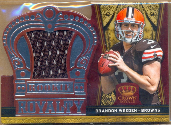 2012 Crown Royale Rookie Royalty Materials #5 Brandon Weeden