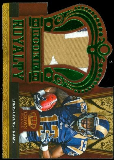 2012 Crown Royale Rookie Royalty Materials Green Prime #8 Chris Givens