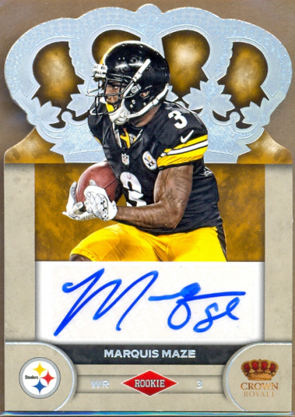 2012 Crown Royale Rookie Signatures Silver Holofoil #62 Marquis Maze/149
