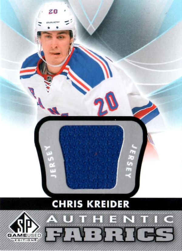 2012-13 SP Game Used Authentic Fabrics #AFCK Chris Kreider D