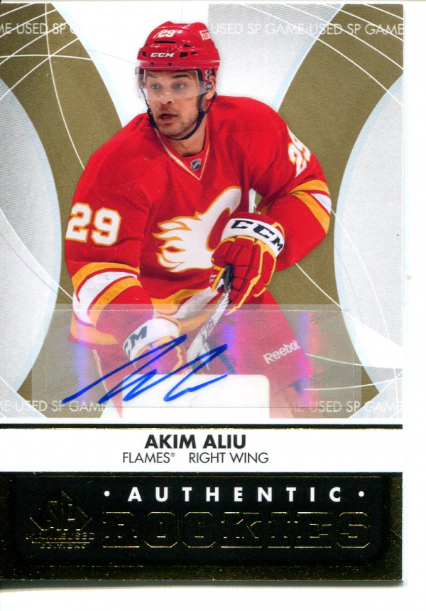 2012-13 SP Game Used Gold Autographs #109 Akim Aliu