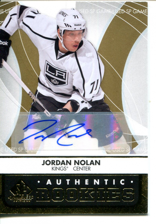 2012-13 SP Game Used Gold Autographs #125 Jordan Nolan