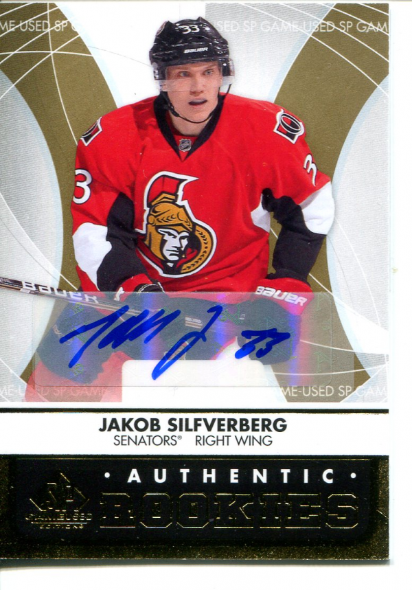 2012-13 SP Game Used Gold Autographs #137 Jakob Silfverberg