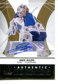 2012-13 SP Game Used Gold Autographs #143 Jake Allen front image
