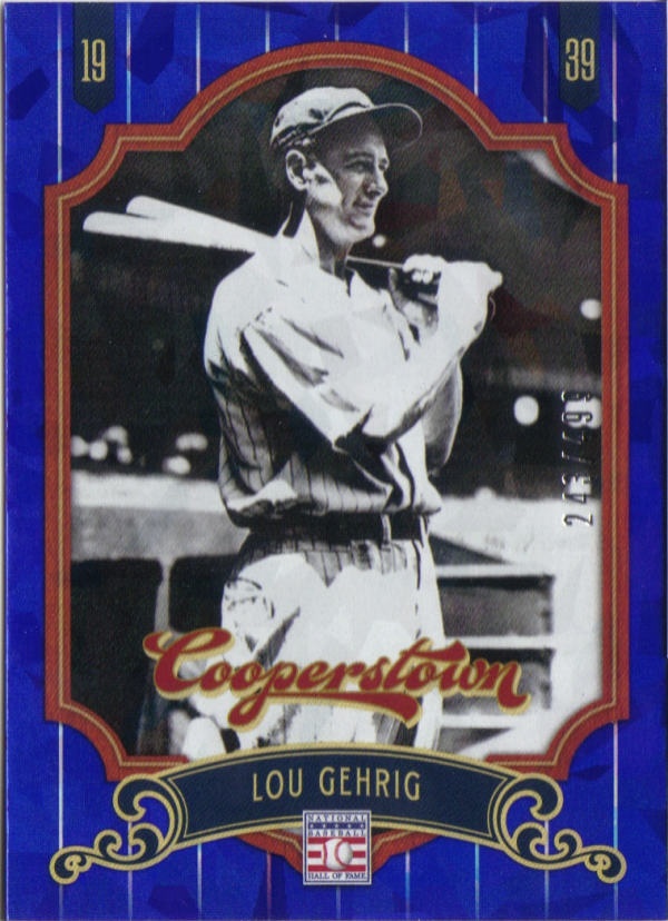 2012 Panini Cooperstown Crystal Collection Blue #6 Lou Gehrig