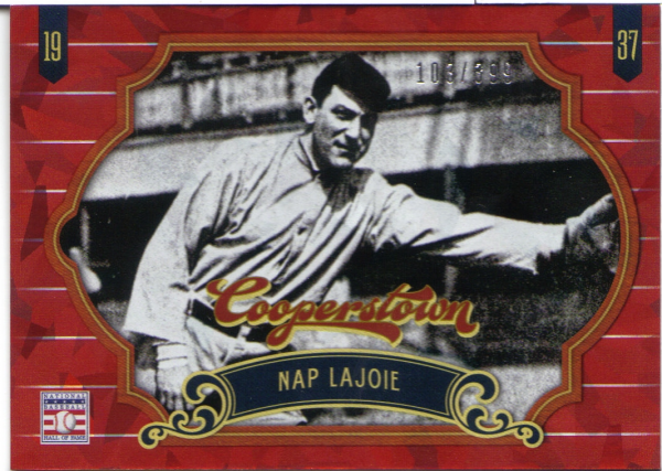 2012 Panini Cooperstown Crystal Collection Red #5 Nap Lajoie