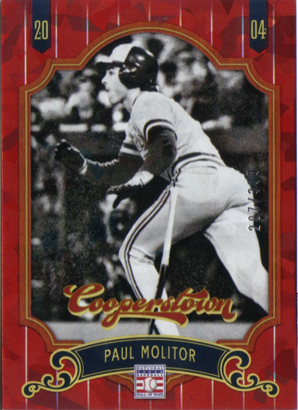 2012 Panini Cooperstown Crystal Collection Red #19 Paul Molitor