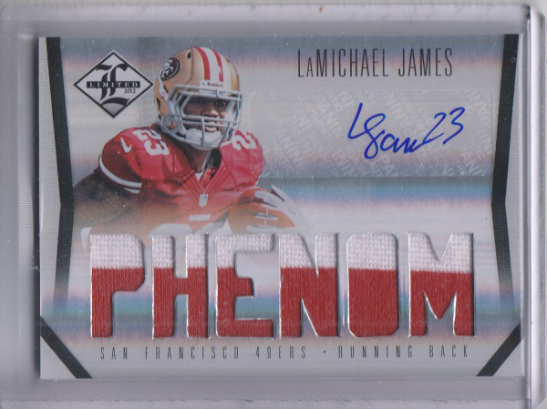 2012 Limited #219 LaMichael James JSY AU/199 RC