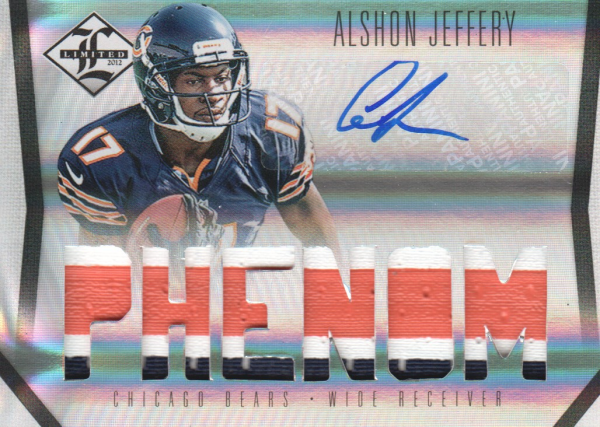 2012 Limited #235 Alshon Jeffery JSY AU/299 RC