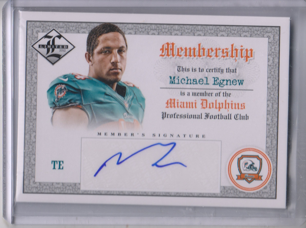 2012 Limited Membership Autographs #10 Michael Egnew/99
