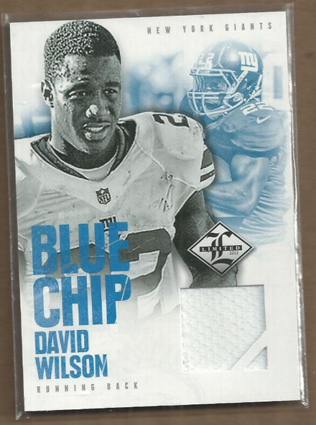 2012 Limited Blue Chip Jerseys #14 David Wilson/99