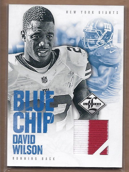 2012 Limited Blue Chip Jerseys Prime #14 David Wilson
