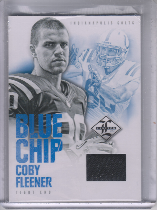 2012 Limited Blue Chip Shoes #21 Coby Fleener