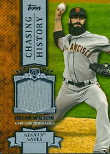 2013 Topps Chasing History Relics #BW Brian Wilson