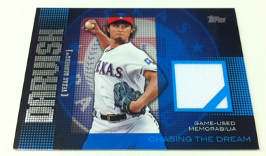 2013 Topps Chasing The Dream Relics #YD Yu Darvish