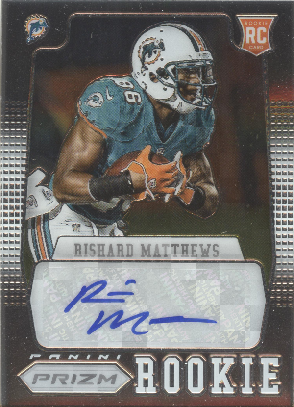 2012 Panini Prizm Autographs #255 Rishard Matthews/499