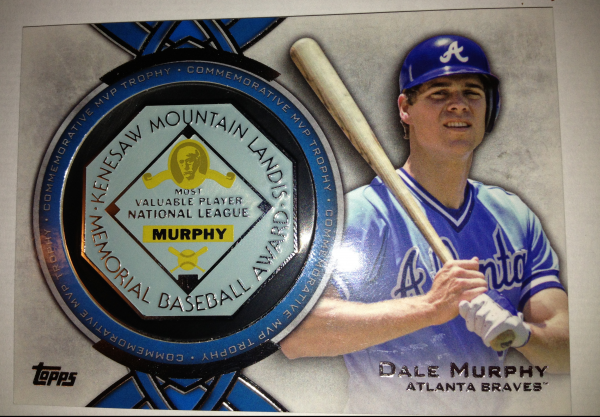 2013 Topps MVP Award Winners Trophy #DM Dale Murphy