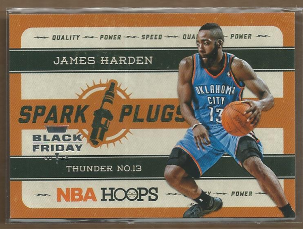 2012-13 Hoops Spark Plugs Black Friday #1 James Harden