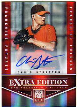 2012 Elite Extra Edition Franchise Futures Signatures #12 Chris Stratton/120