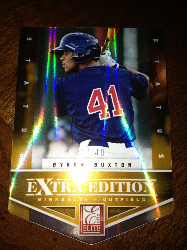 2012 Elite Extra Edition Status Orange #102 Byron Buxton
