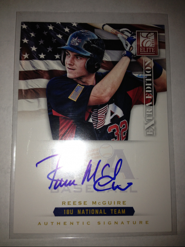2012 Elite Extra Edition USA Baseball 18U Signatures #12 Reese McGuire