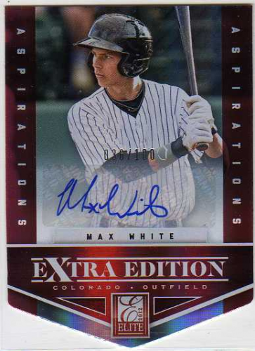 2012 Elite Extra Edition Signature Aspirations #9 Max White