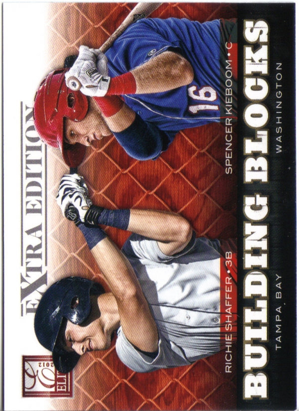 2012 Elite Extra Edition Building Blocks Dual #16 Richie Shaffer/Spencer Kieboom