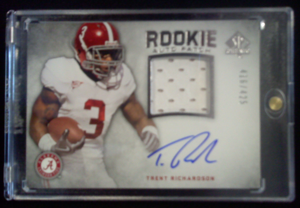 2012 SP Authentic #273 Trent Richardson JSY AU/425