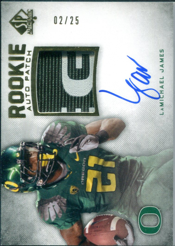 2012 SP Authentic Rookie Patch Autographs Gold #269 LaMichael James