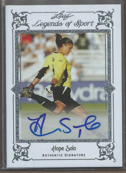 2012 Leaf Legends of Sport Silver #BAHS1 Hope Solo