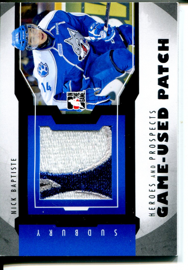 2012-13 ITG Heroes and Prospects Jersey Patches Silver #M33 Nick Baptiste