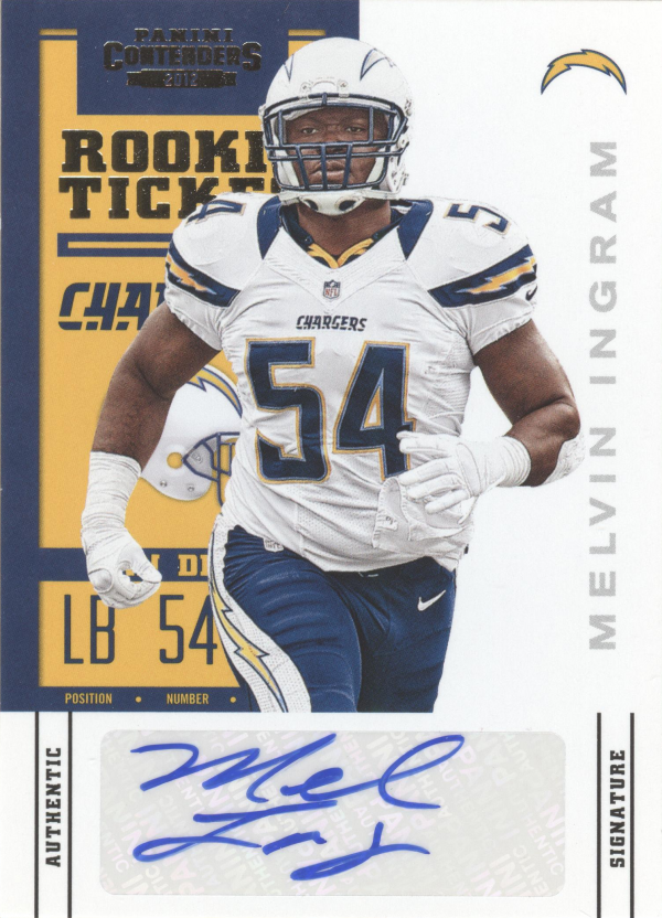 2012 Panini Contenders #166A Melvin Ingram AU RC/(white jersey)
