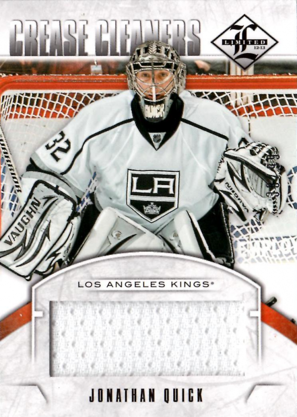 2012-13 Limited Crease Cleaners Materials #8 Jonathan Quick/99