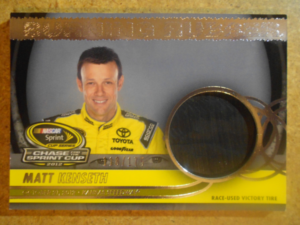 2013 Total Memorabilia Burning Rubber Chase Edition Silver #BRCMK2 Matt Kenseth/Kansas